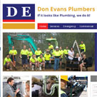 Don Evans Plumbers Web Design