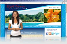 banner graphic web video presenter